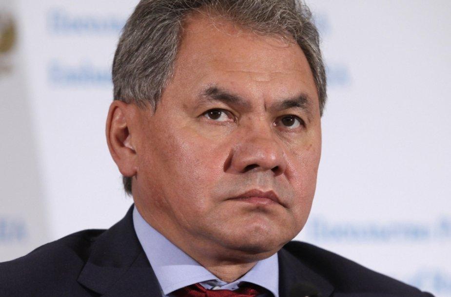 Rusijos gynybos ministras Sergejus Šoigu