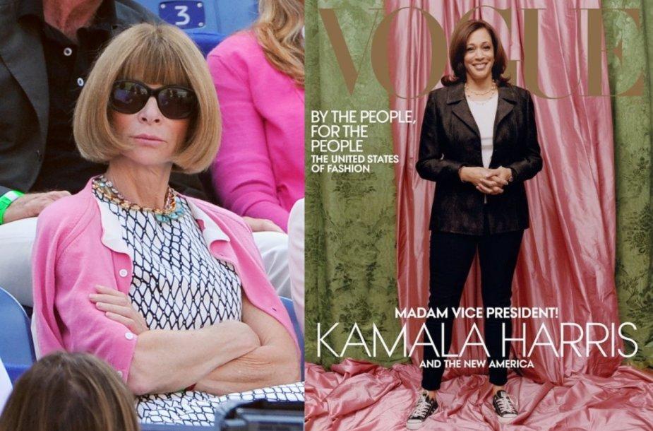 "Anna Wintour, Kamala Harris ant ""Vogue"" viršelio"