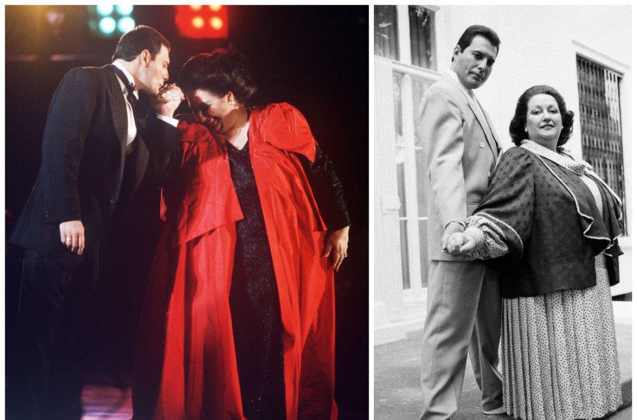 Montserrat Caballe ir Freddie Mercury