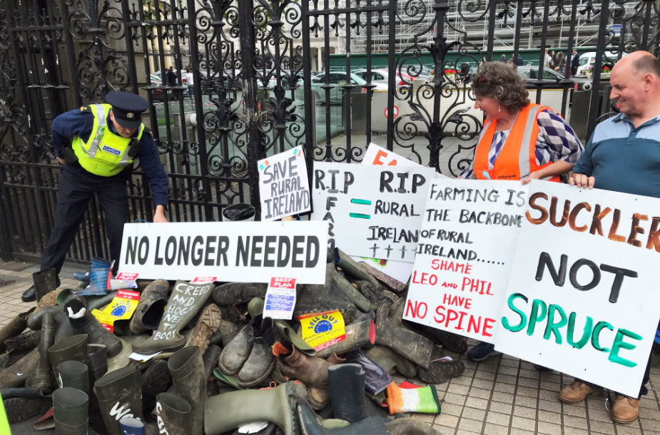 Ūkininkų protestas Airijoje