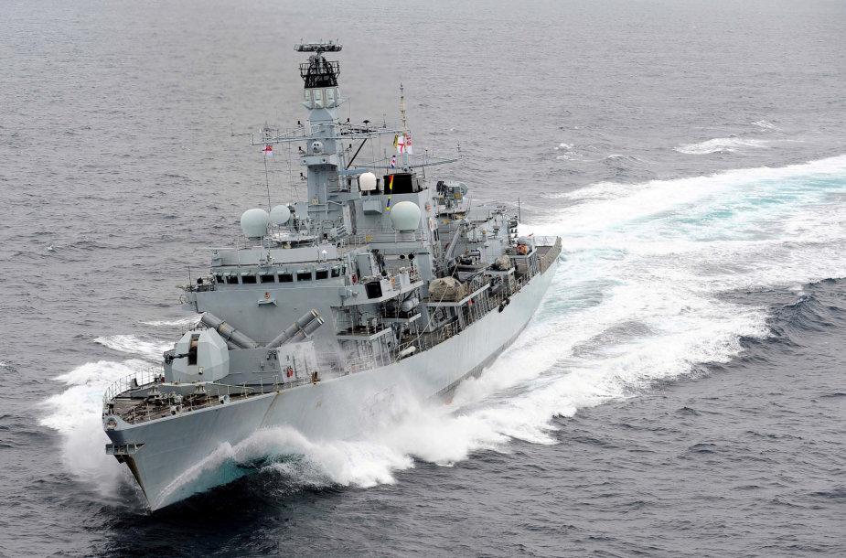 """Britų karo laivas """"HMS Montrose"""""""