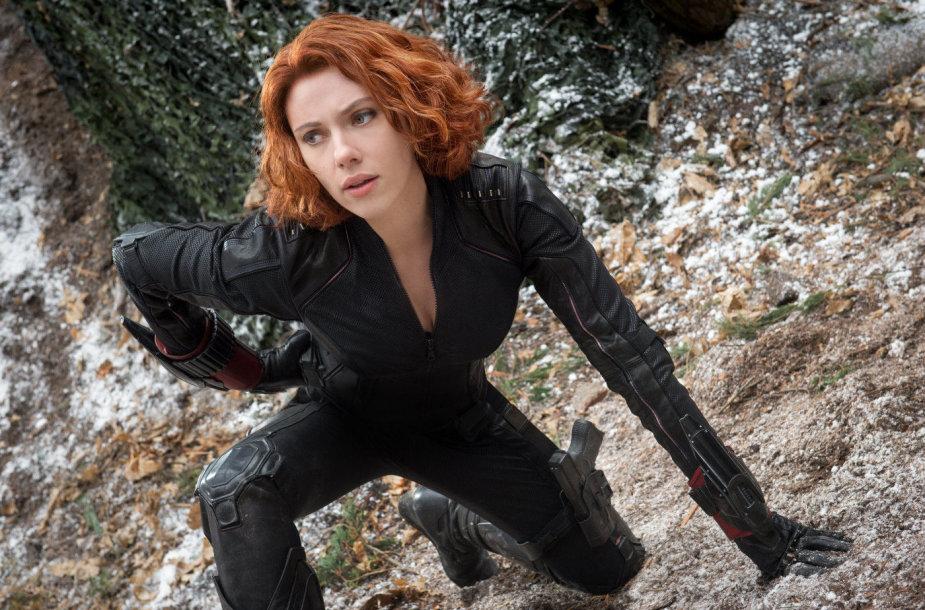 "Scarlett Johansson filme ""Keršytojai: Altrono amžius"" (2015 m.)"