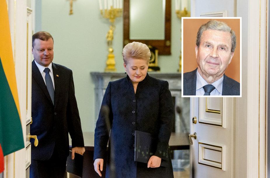 Saulius Skvernelis, Dalia Grybauskaitė ir Vytautas Sinkevičius