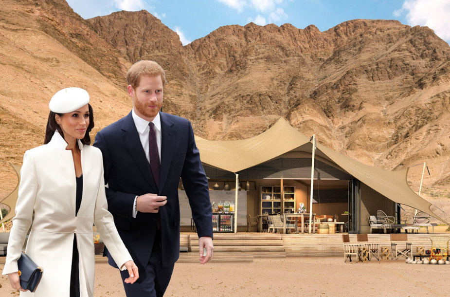"""Princas Harry ir Meghan Markle medaus mėnesį leis """"Hoanib Valley Camp"""" stovyklavietė Namibijoje"""