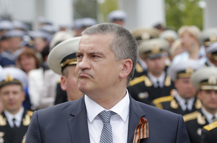 """partijos """"Rusų vienybė"""" lyderis Sergejus Aksionovas Sevastopolyje"""