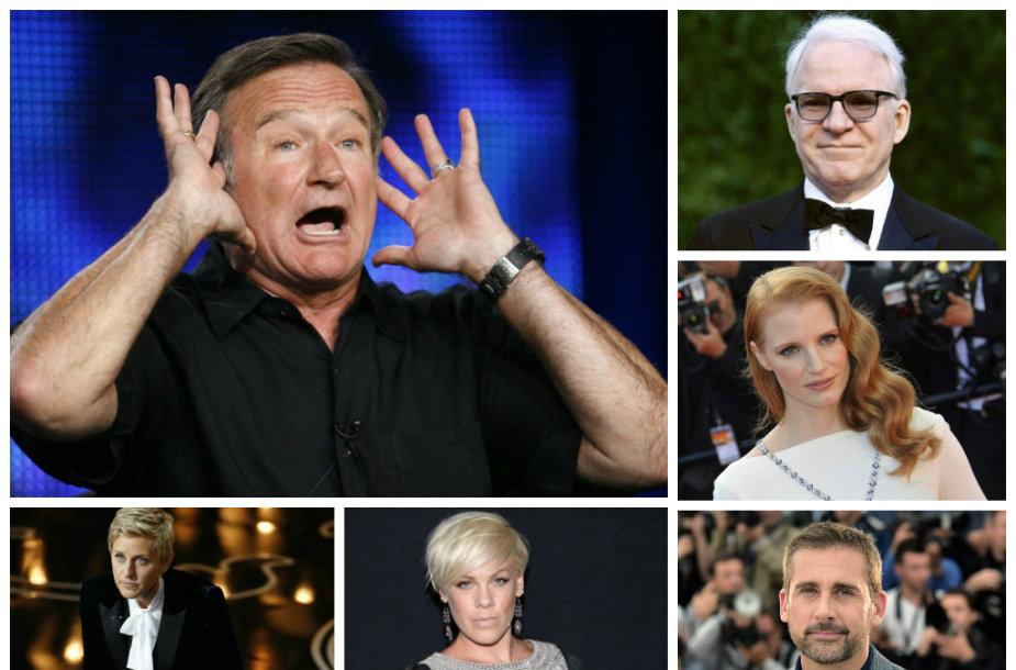 Pasaulio garsenybės lieja sielvartą dėl komiko Robino Williamso mirties