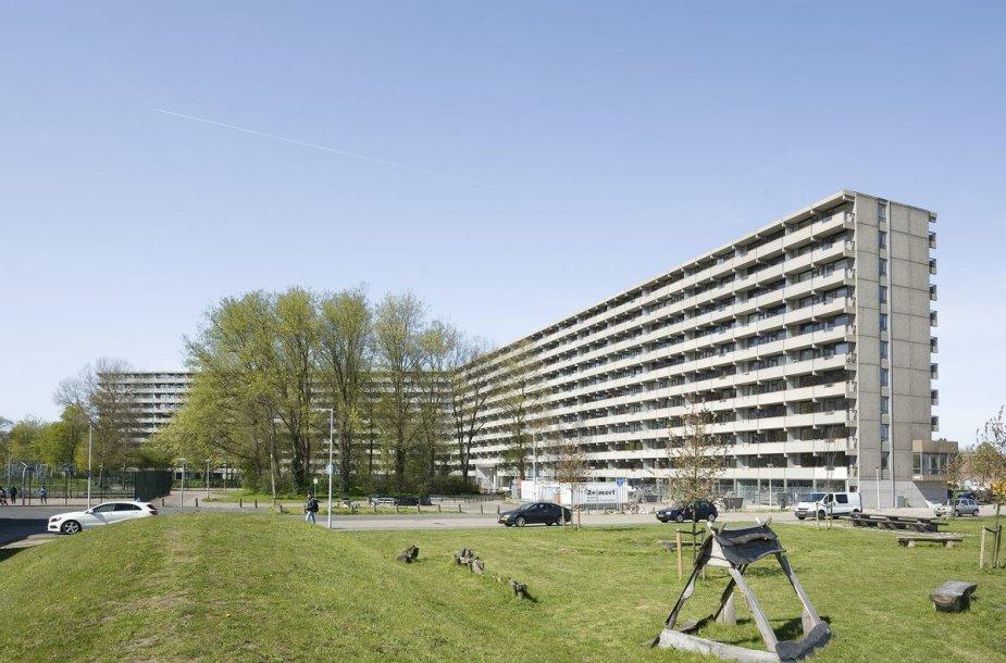 "Namo ""DeFlat Kleiburg"" Amsterdame renovacija, arch. ""NL Architects"" ir ""XVW architectuur"", Mies van der Rohe premija 2017"