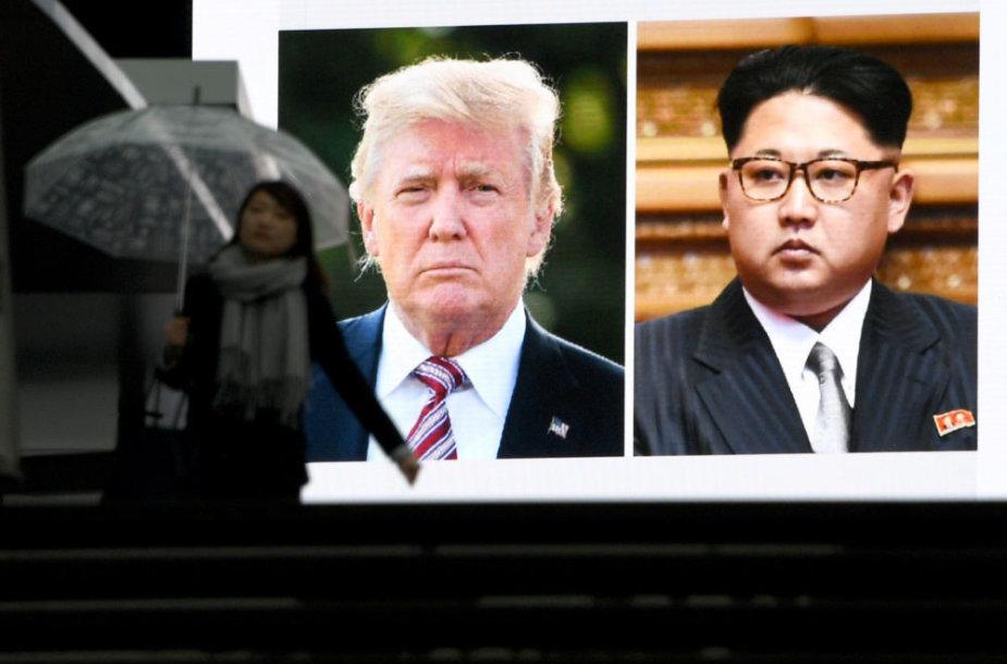 Donaldas Trumpas ir Kim Jon Unas
