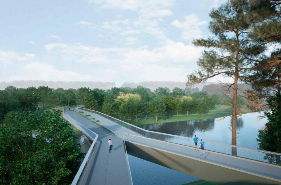 """Projektuojamas tiltas prie """"Litexpo"""" sostinėje"""