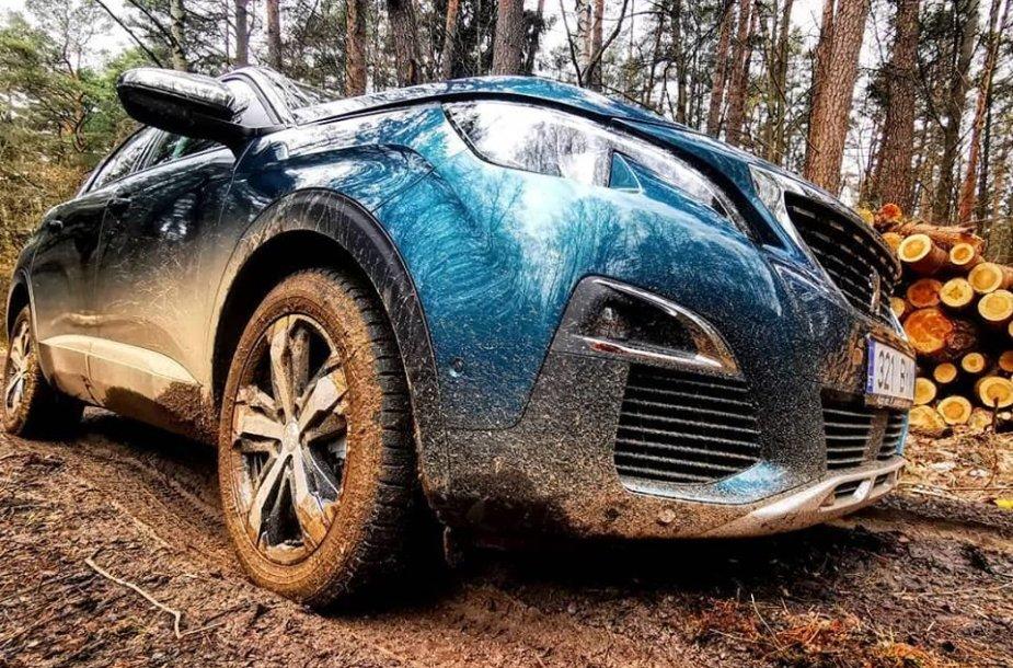 """""""Peugeot"""" krosoverių funkcijos """"Grip control"""" bandymai"""