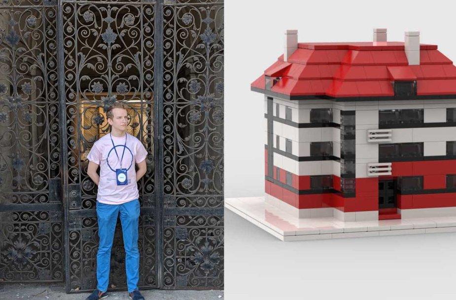 """Rokas Mikšriūnas iš """"Lego"""" konstruoja pastatus"""