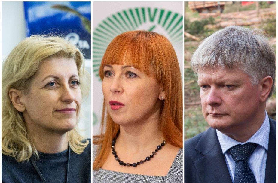 Liana Ruokytė-Jonsson, Jurgita Petrauskienė ir Kęstutis Navickas