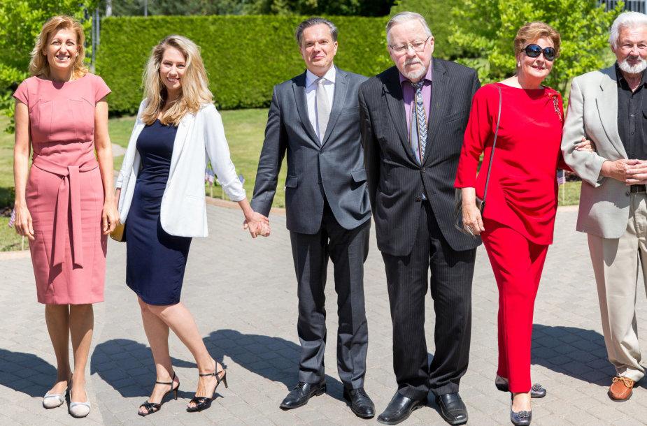 JAV Nepriklausomybės dienos minėjimo svečiai: Liana Ruokytė-Jonsson, Giedrė Žickytė ir Eitvydas Bajarūnas, Vytautas Landsbergis bei Birutė ir Rimtautas Vizgirdos
