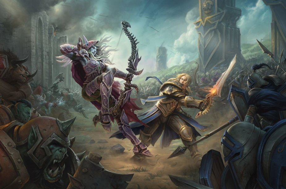 """World of Warcraft: Battle of Azeroth"" pristatymo iliustracija"