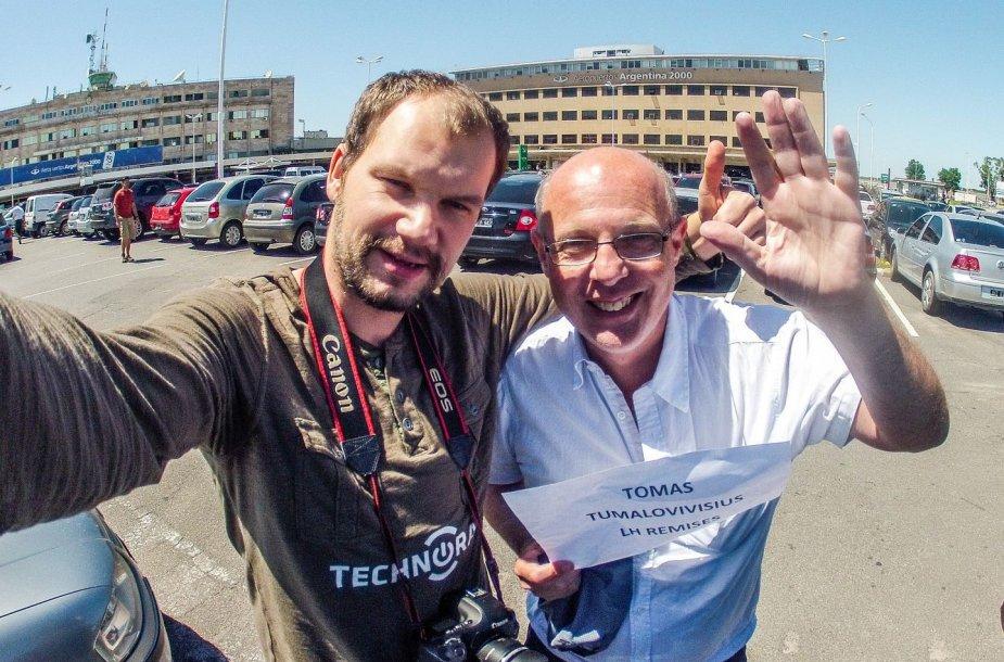 Tomo Tumalovičiaus atvykimas į Dakaro ralį