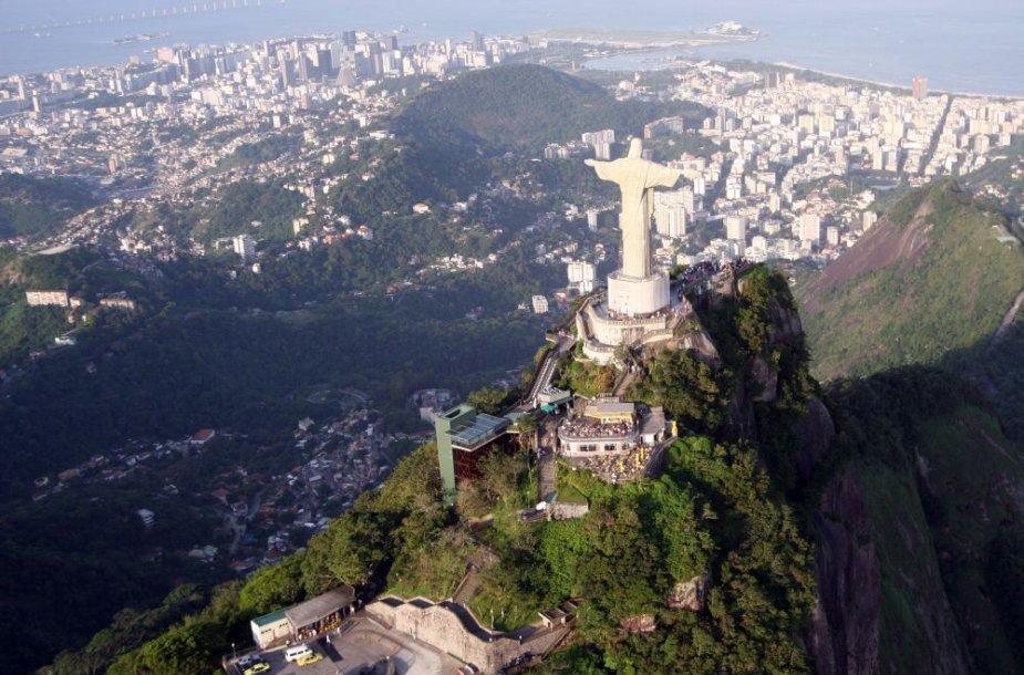 Rio de Žaneiro Kariokos kraštovaizdis Brazilijoje