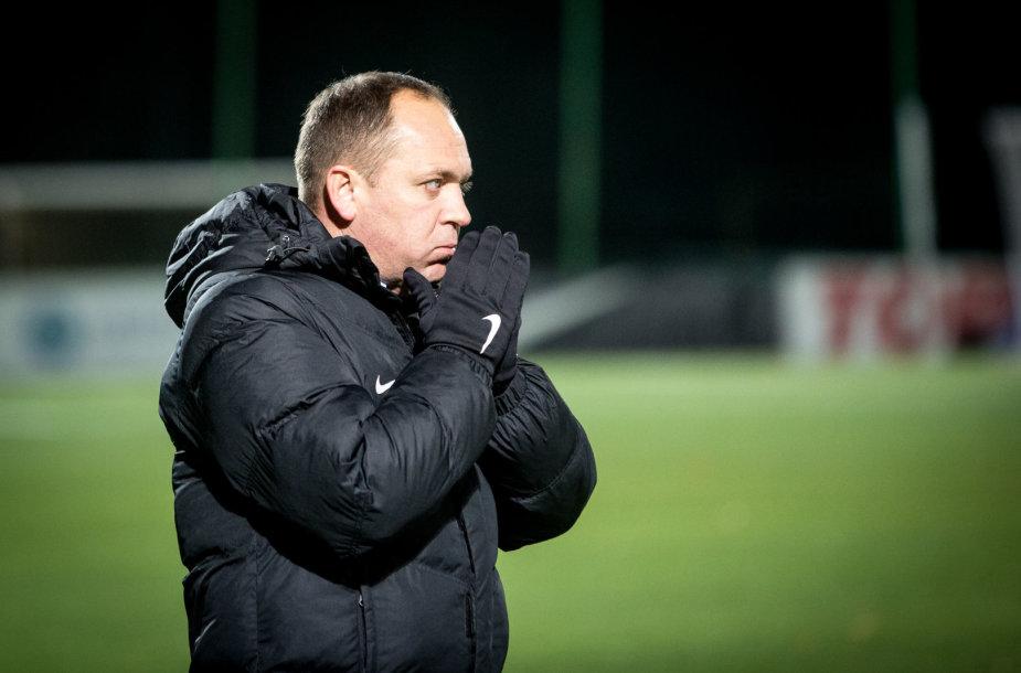 """""""Žalgirio"""" treneris Aleksandras Brazevičius"""