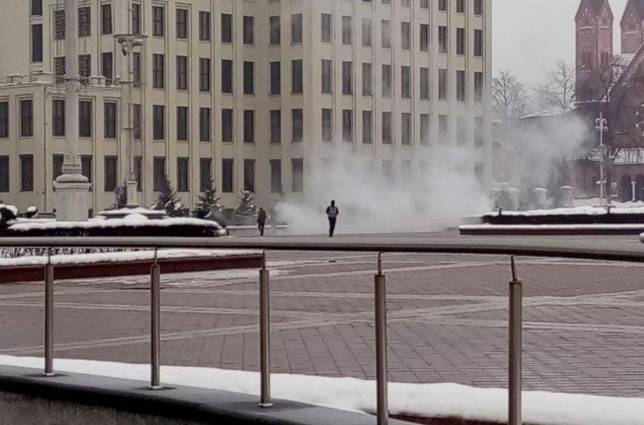 Dūmai Minsko centre
