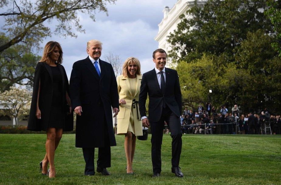 Prancūzijos prezidentas Emmanuelis Macronas atvyko į JAV