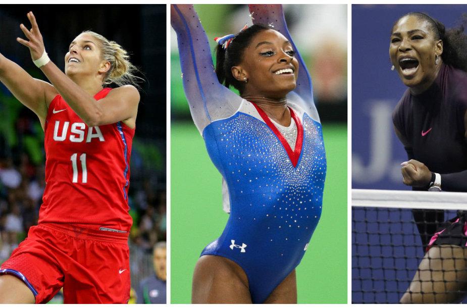 Elena Delle Donne, Simone Biles ir Serena Williams