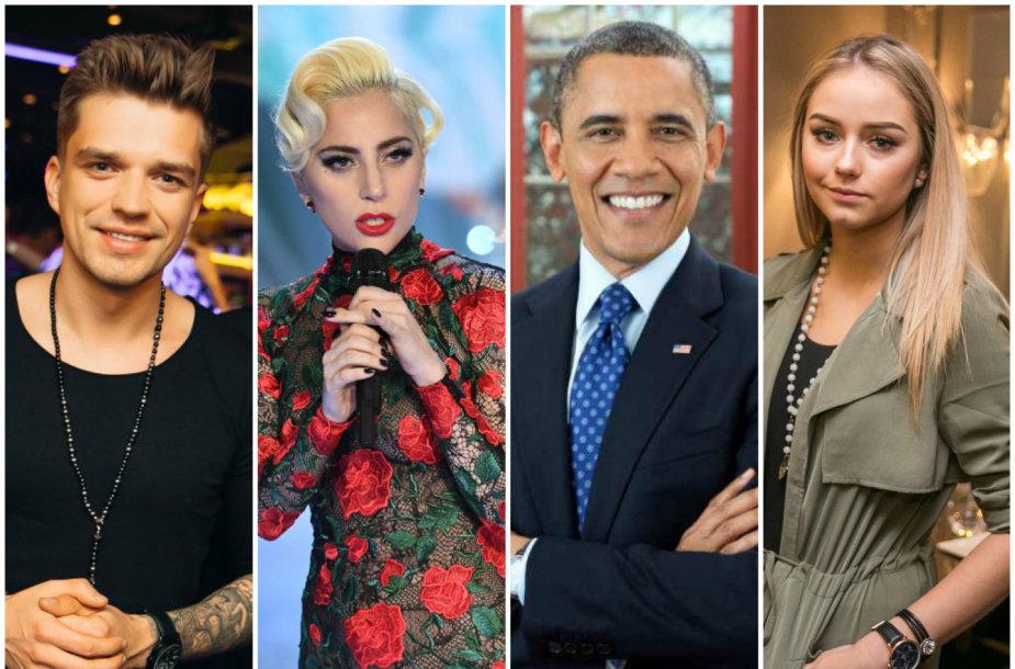 Jonas Nainys, Lady Gaga, Barackas Obama ir Iglė Bernotaitytė