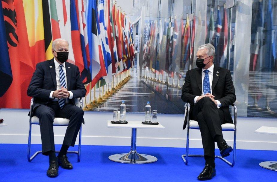 Trijų Baltijos šalių vadovai susitinka su JAV lyderiu Joe Bidenu