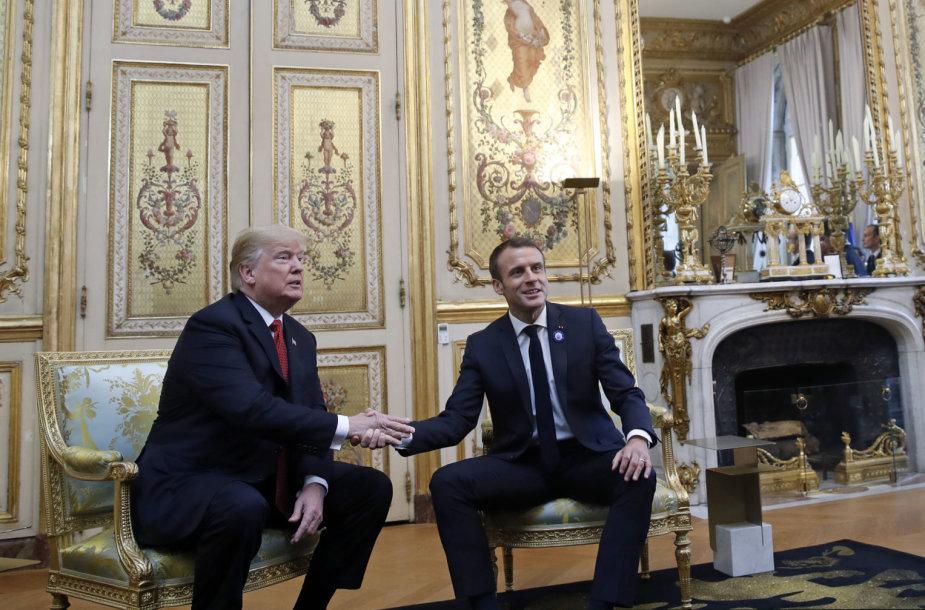 Donaldas Trumpas ir Emmanuelis Macronas