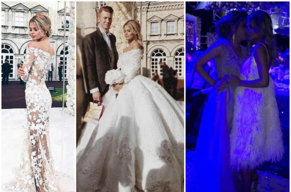 Skirtingi Alionos Krasnovos vestuviniai įvaiždiai