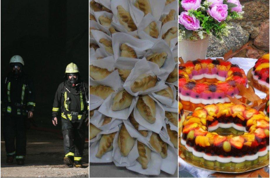 Alytaus ugniagesiams alytiškiai atsidėkoja įvairiais skanėstais.