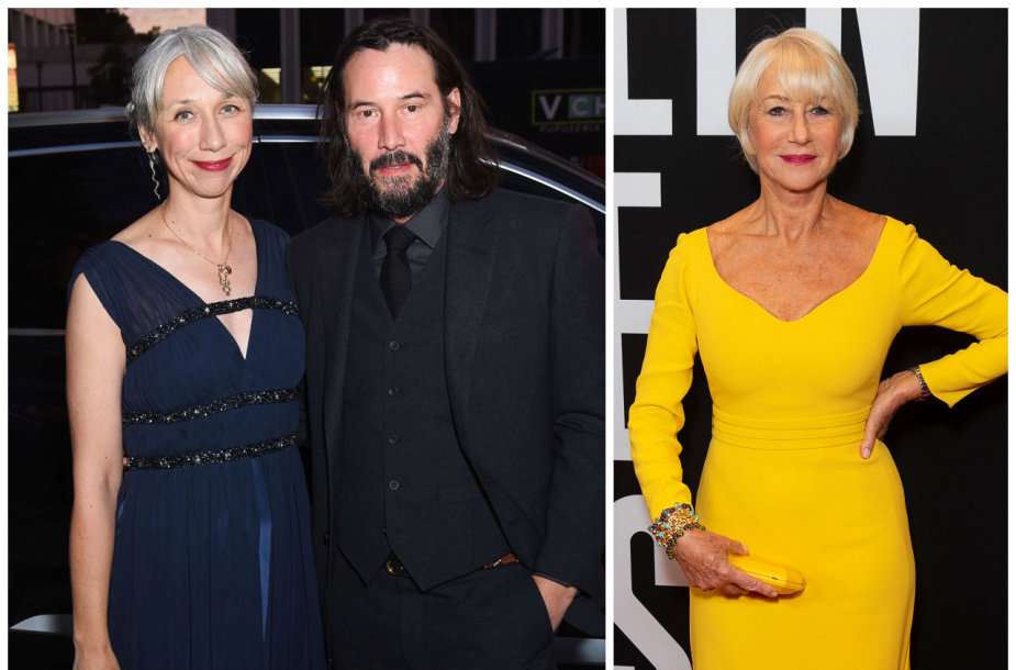 Alexandra Grant ir Keanu Reevesas, Helen Mirren