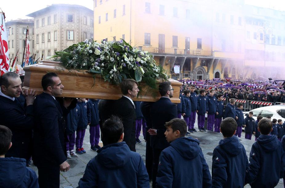 Davide Astori laidotuvių akimirkos