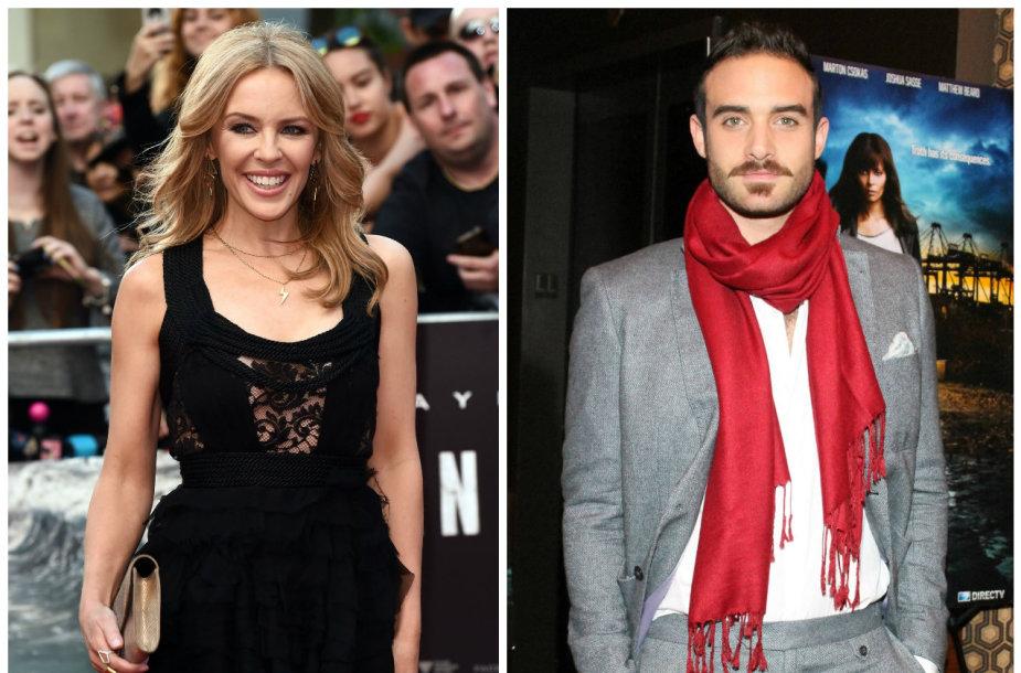Kylie Minogue ir Joshua Sasse