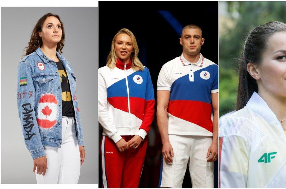 Kanados, Rusijos ir Lietuvos olimpinės aprangos sulaukė kritikos dėl skirtingų dalykų.