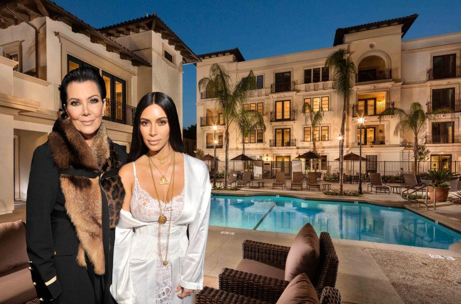 Kim Kardashian su mama Kris Jenner nusipirko tris butus tame pačiame komplekse