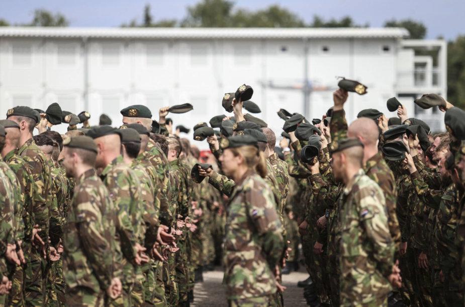 Rukloje vyko NATO priešakinių pajėgų bataliono kovinės grupės rotacijų ir vadovybės pasikeitimo ceremonija