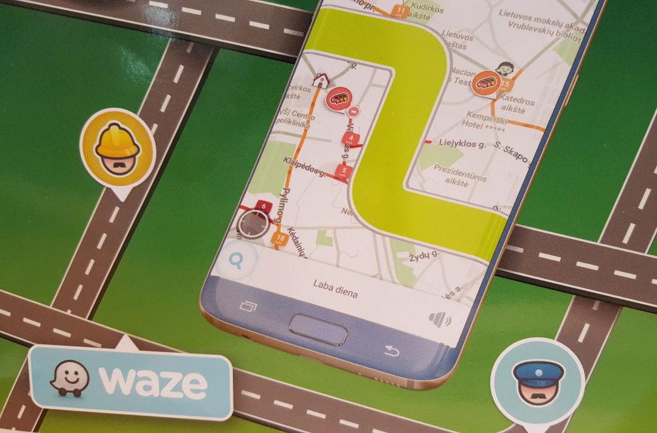 """""""Waze"""" programėlė"""