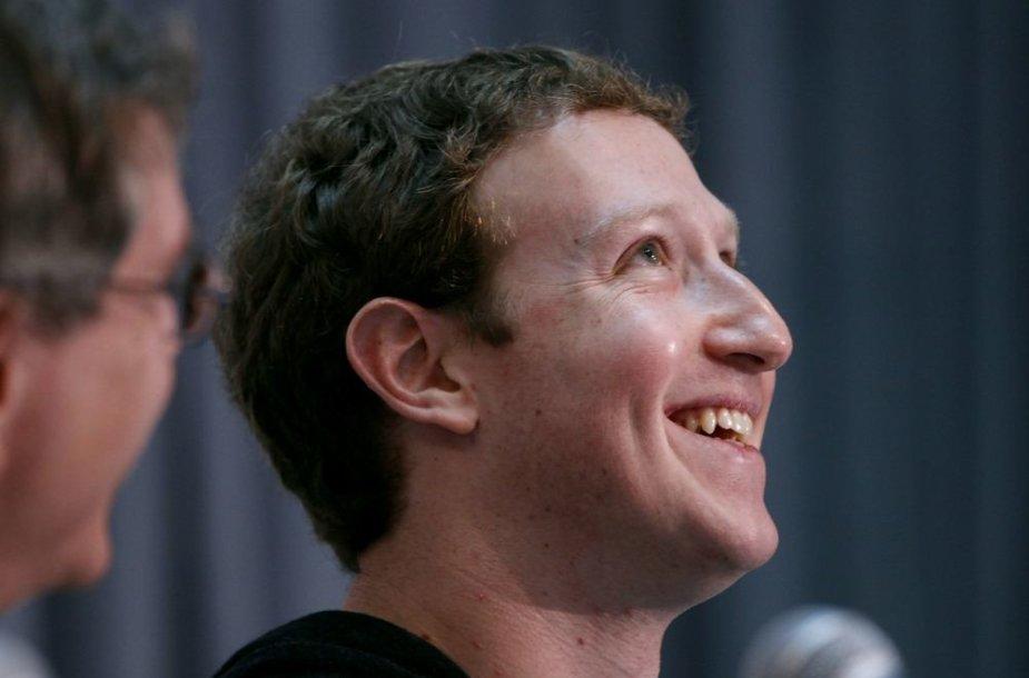 """Facebook"" įkūrėjas Markas Zuckerbergas"