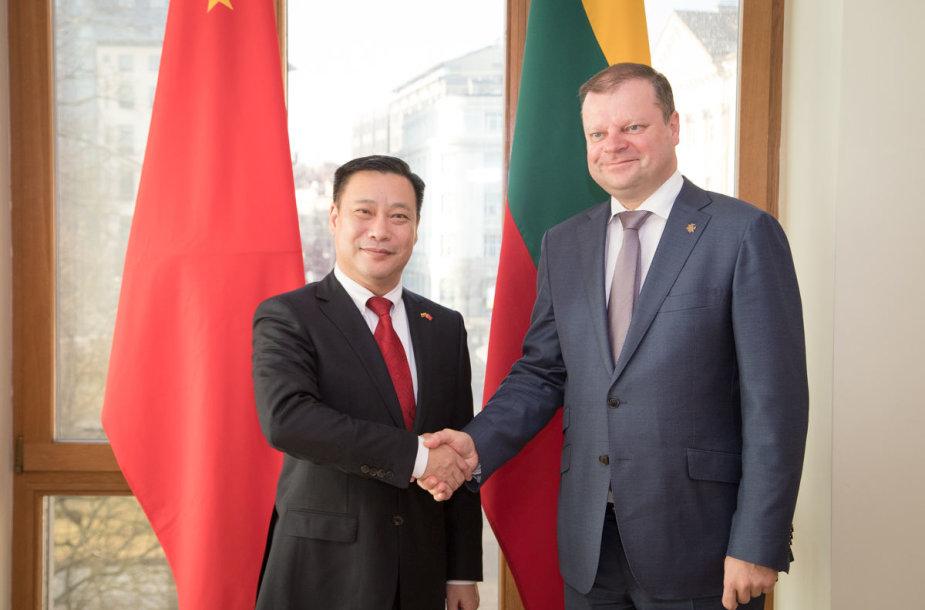 Premjeras S. Skvernelis susitiko su Kinijos ambasadoriumi