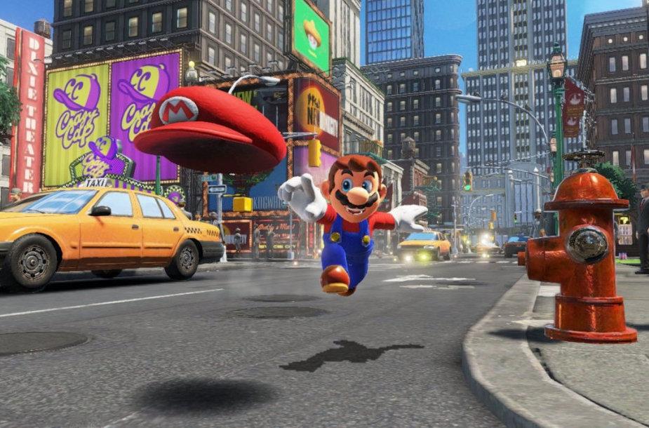 """Žaidimo """"Super Mario Odyssey"""" kadras"""
