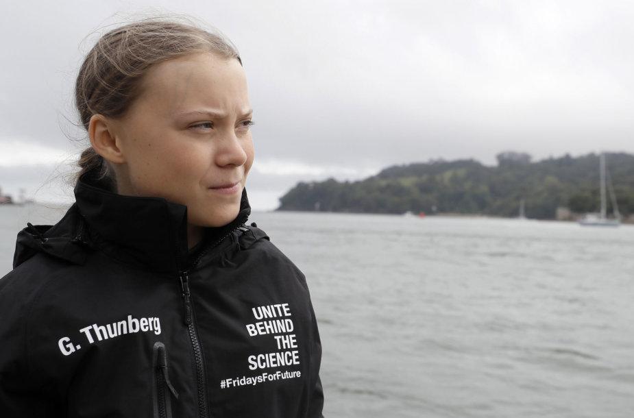 Greta Thunberg jachtoje