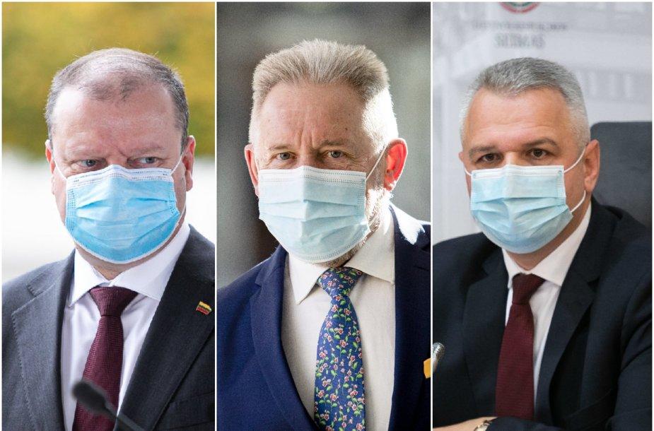 Saulius Skvernelis, Algirdas Sysas ir Vigilijus Jukna