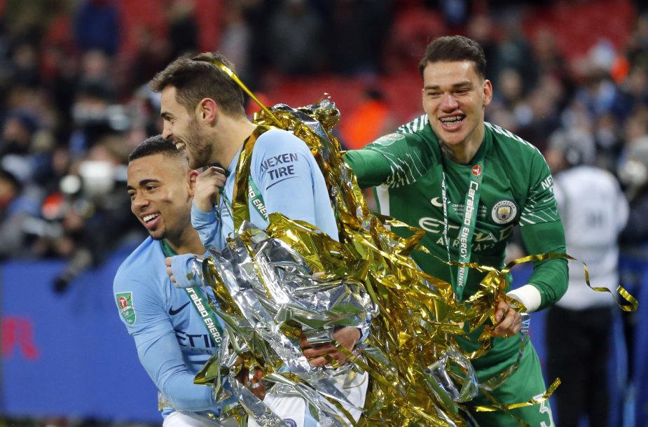 """""""Manchester City"""" triumfas Anglijos lygos taurės turnyre"""