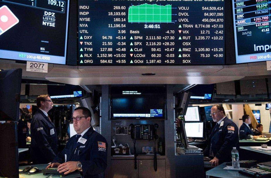 Asociatyvinė iliustracija: akcijų birža
