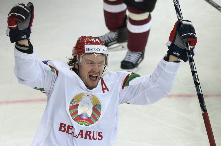 Baltarusijos ledo ritulio rinktinės žaidėjas Michailas Grabovskis
