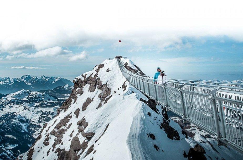 """""""Peak Walk"""" Šveicarijoje"""