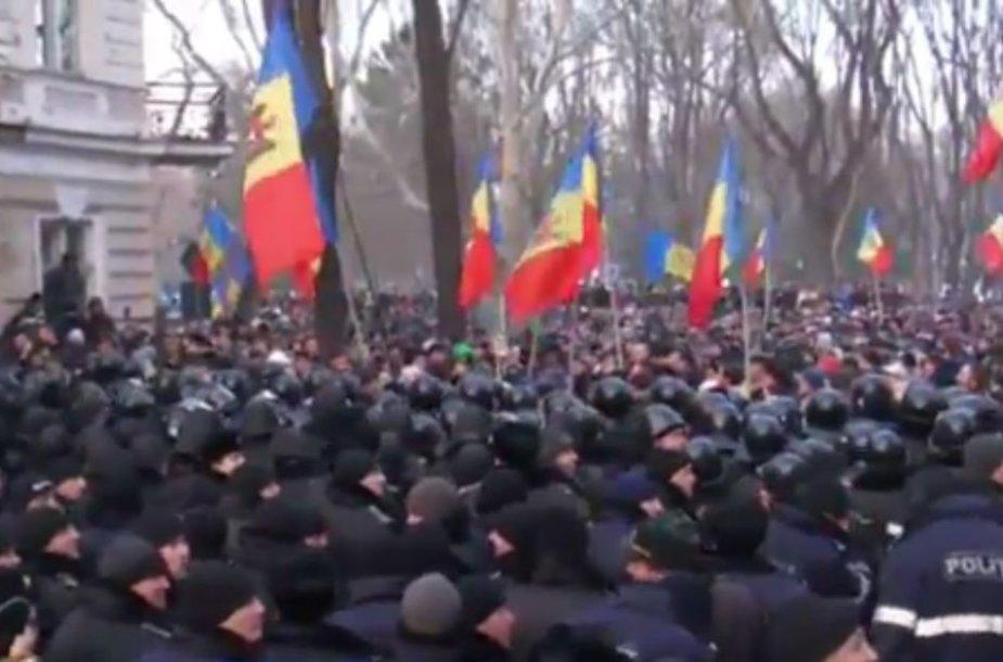 Protestai Moldovoje