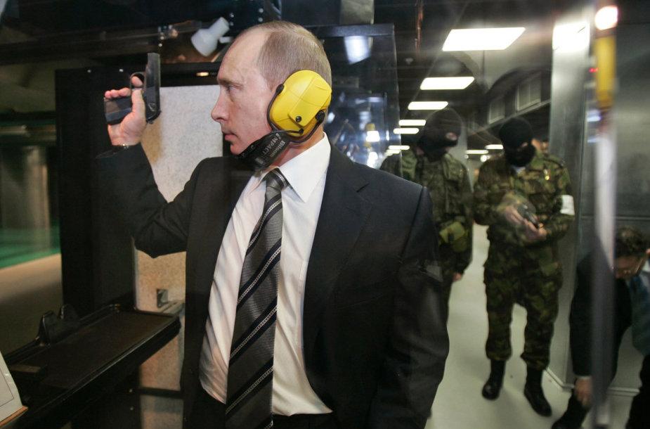 Vladimiras Putinas GRU būstinės šaudykloje