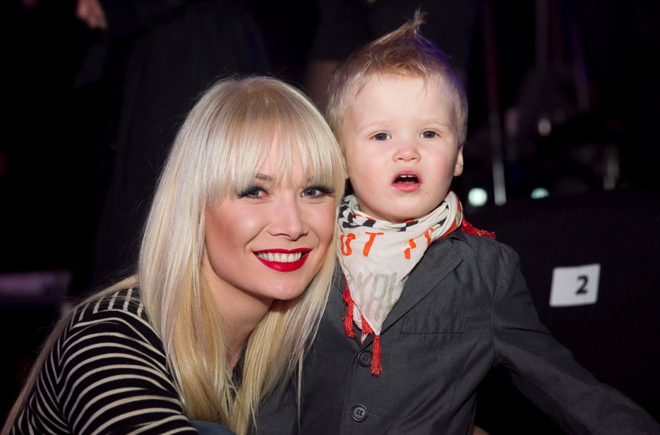 Natalijas Bunkė su sūnumi Kristupu