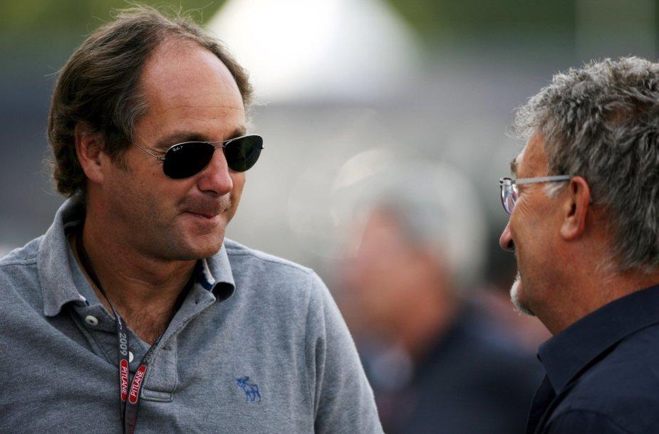 Gerhardas Bergeris (kairėje) ir Eddie Jordanas