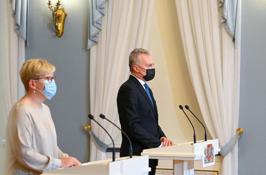 Prezidento susitikimas su paskirtąja Ministre Pirmininke Ingrida Šimonyte